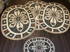 ROMANY GYPSY WASHABLES NEW CROWN DBY DESIGN XLARGE SET OF 4 MATS RUGS NON SLIP